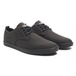 Clae Ellington Textile Black Hemp Canvas