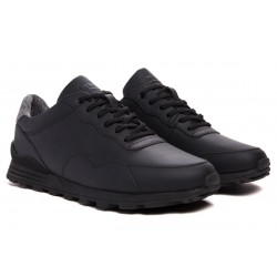 Clae Hoffman Black Coated Leather