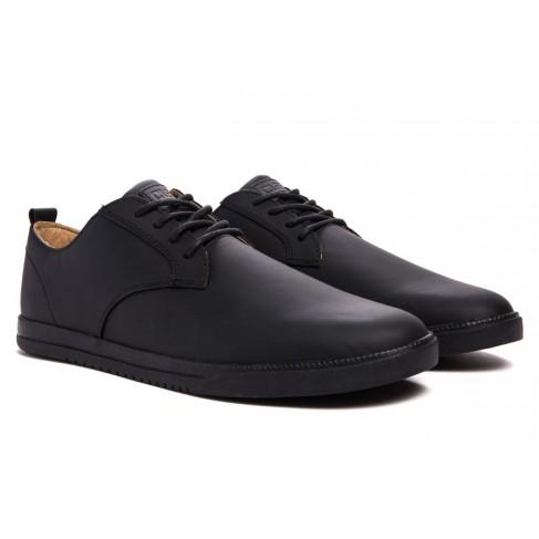 Clae Ellington Black Coated Leather