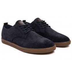 Clae Ellington Deep Navy Waxed Suede