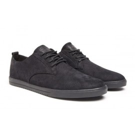 Clae Ellington Black Waxed Suede