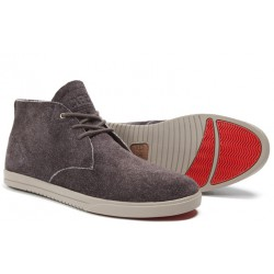 Clae Strayhorn Unlined Umber Suede